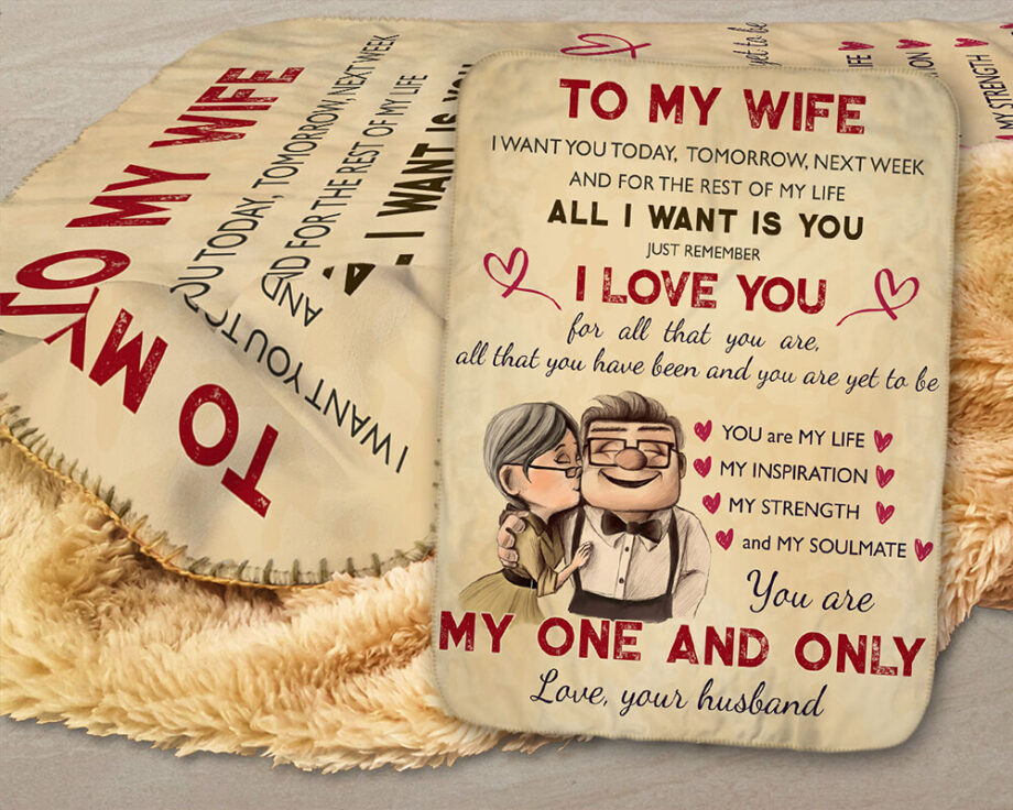 to my wife blanket you are my one and only sherpa blanket